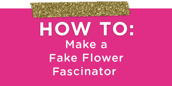 How to Make a Sparkly Floral Fascinator | A Practical Wedding