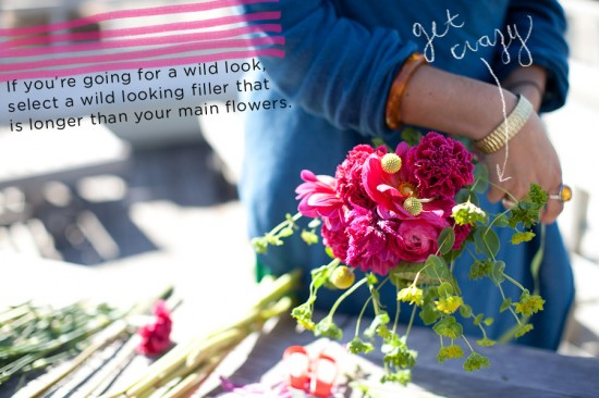 How to Make a Wild Flower Mart Wedding Bouquet | A Practical Wedding