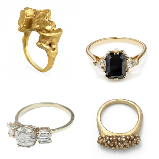 Roundup: Indie Engagement Rings from East Side Bride | A Practical Wedding