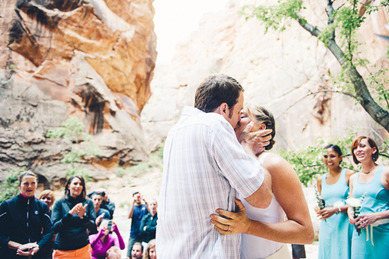 Ashlee and Brians Morning Wedding Hike in Zion National Park | A Practical Wedding