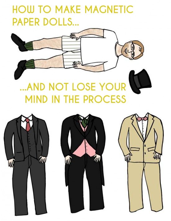 How To Make Magnetic Paper Dolls and Not Lose Your Mind in the Process | A Practical Wedding