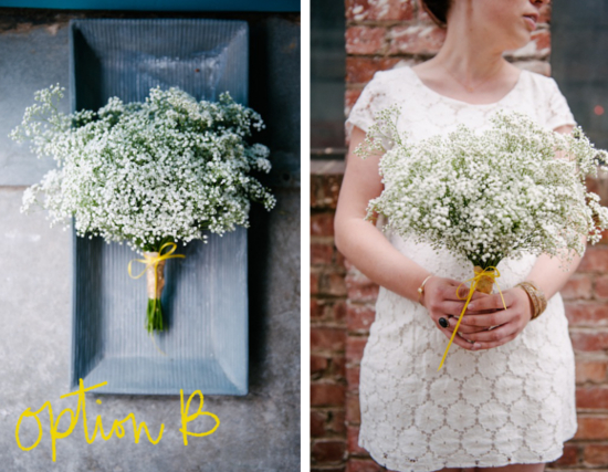 How To: Make A Minimal Wedding Bouquet | A Practical Wedding