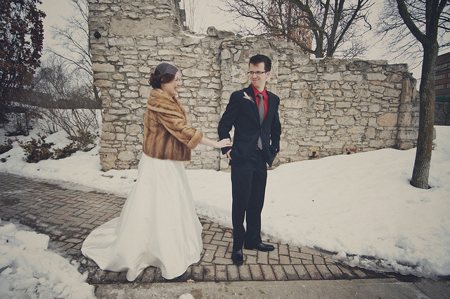 Francis & Joans Snowy Canadian Wedding | A Practical Wedding
