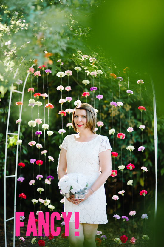 How To: Carnation Backdrop | A Practical Wedding