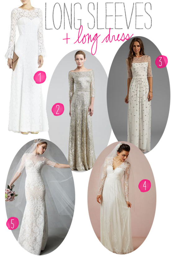 Roundup: Wedding Dresses With Sleeves | A Practical Wedding