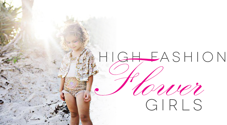 High Fashion Flower Girls: Spring | A Practical Wedding