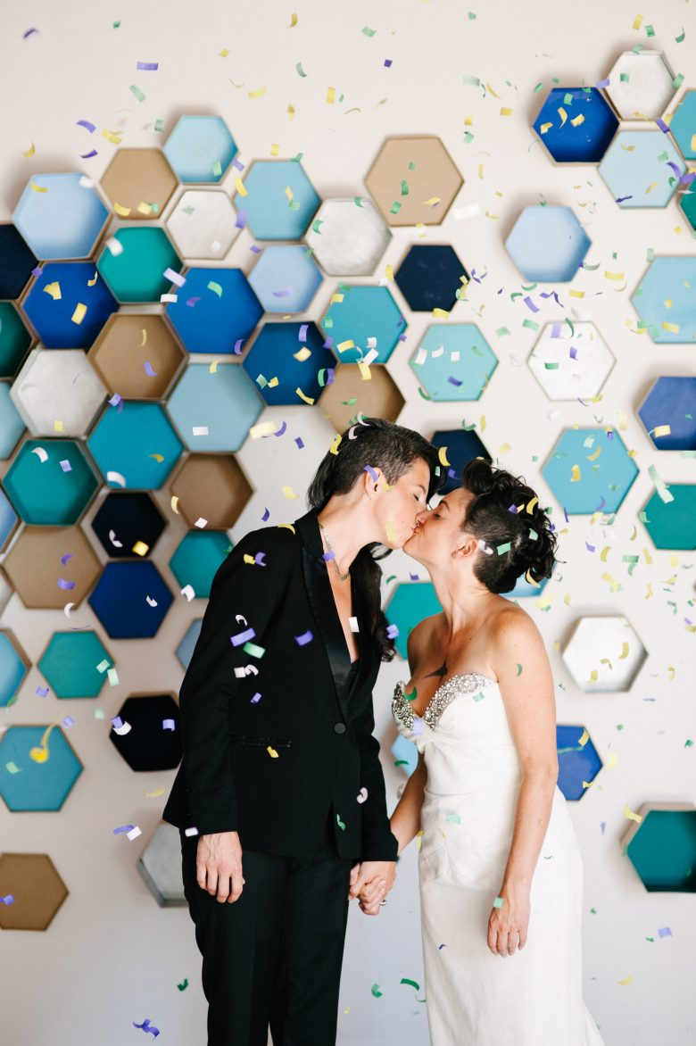 How To: Geometric Hexagon Box Wedding Backdrop | A Practical Wedding