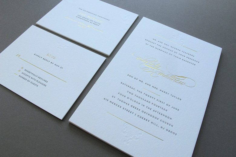 Beautiful Affordable Letterpress Printing By Thomas Printers | A Practical Wedding