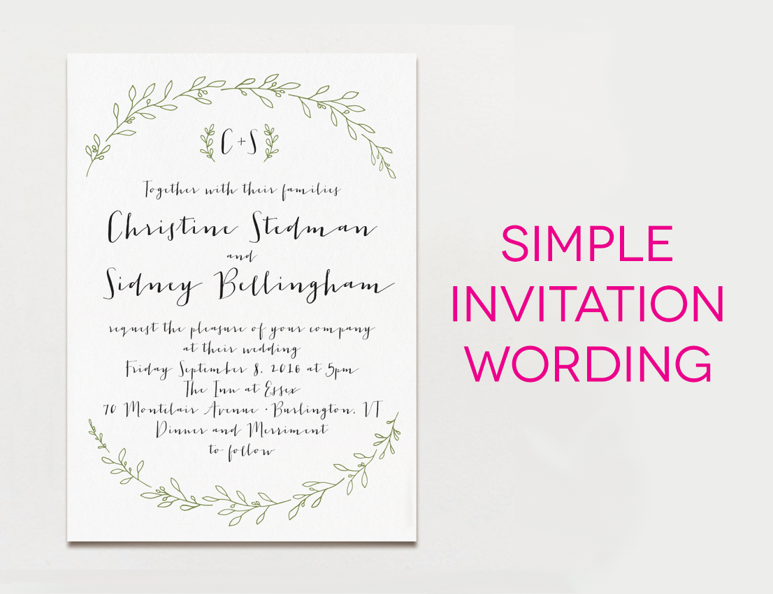 Wedding Invitation Workding