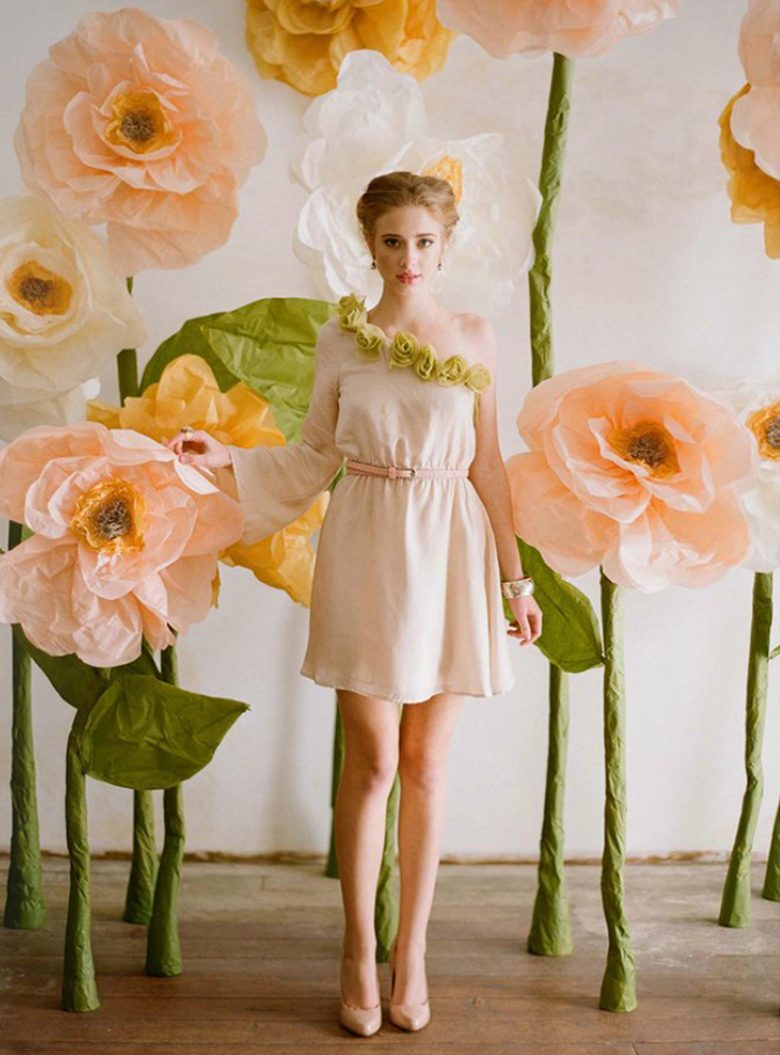 large paper flowers from the spring 2012 Ruche lookbook