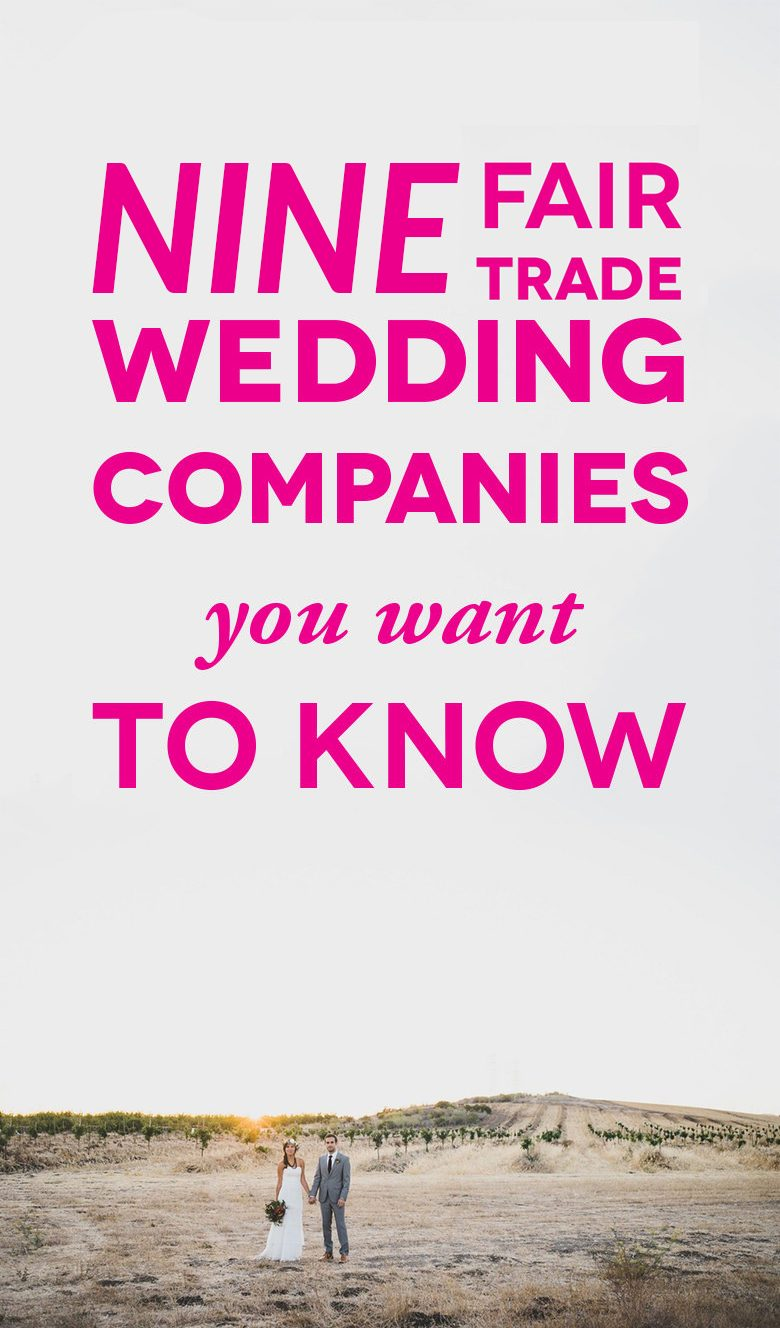 Fair Trade Wedding Companies