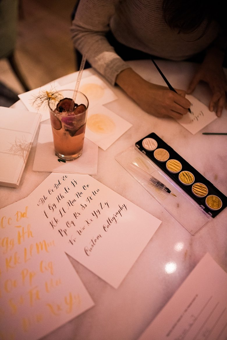 minted calligrapher at the cream event san francisco