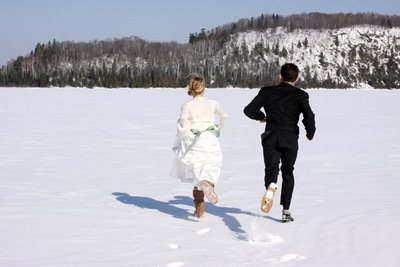 Carrie & Ians Frozen Lake Wedding | A Practical Wedding