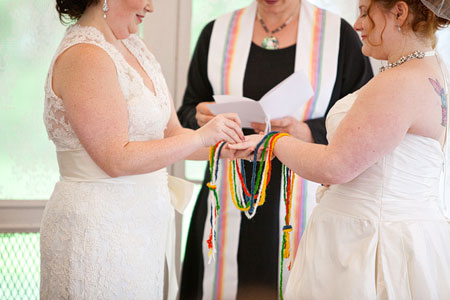 Gay Maryland Outdoor Wedding