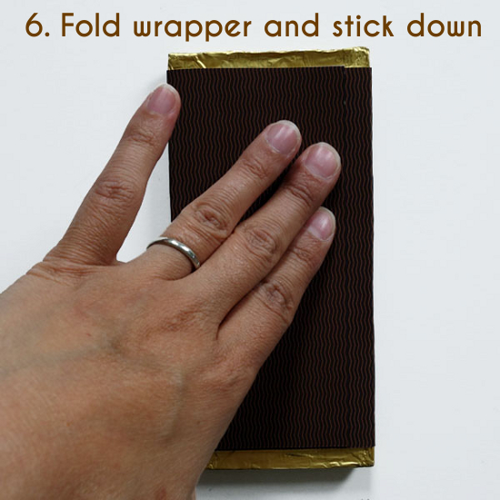 how to make your own chocolate bar wrapper for a wedding