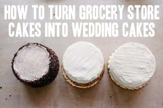 turning grocery store cakes into wedding cakes
