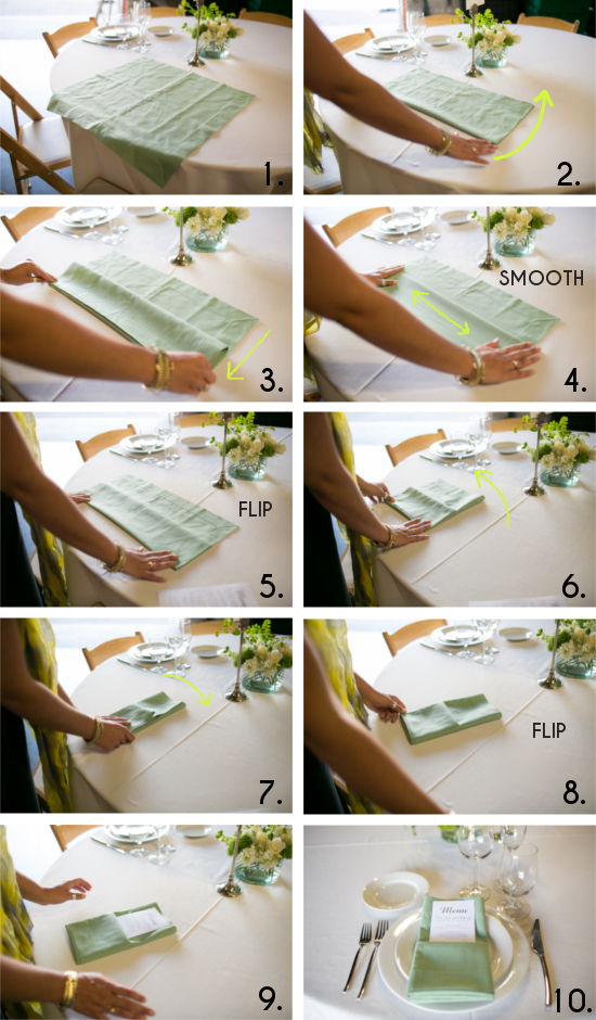 How To Fold Paper Napkins For Wedding Reception The Best Wedding