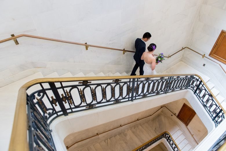 couple getting married at san francisco city hall