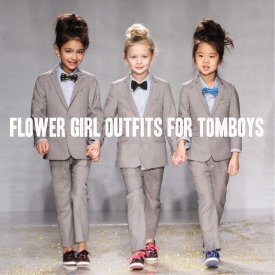 Roundup Tomboy Flower Girl Outfits
