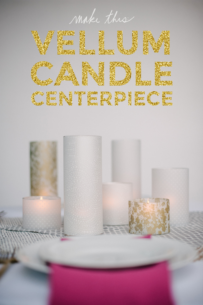 How To: Vellum Candle Centerpiece | A Practical Wedding