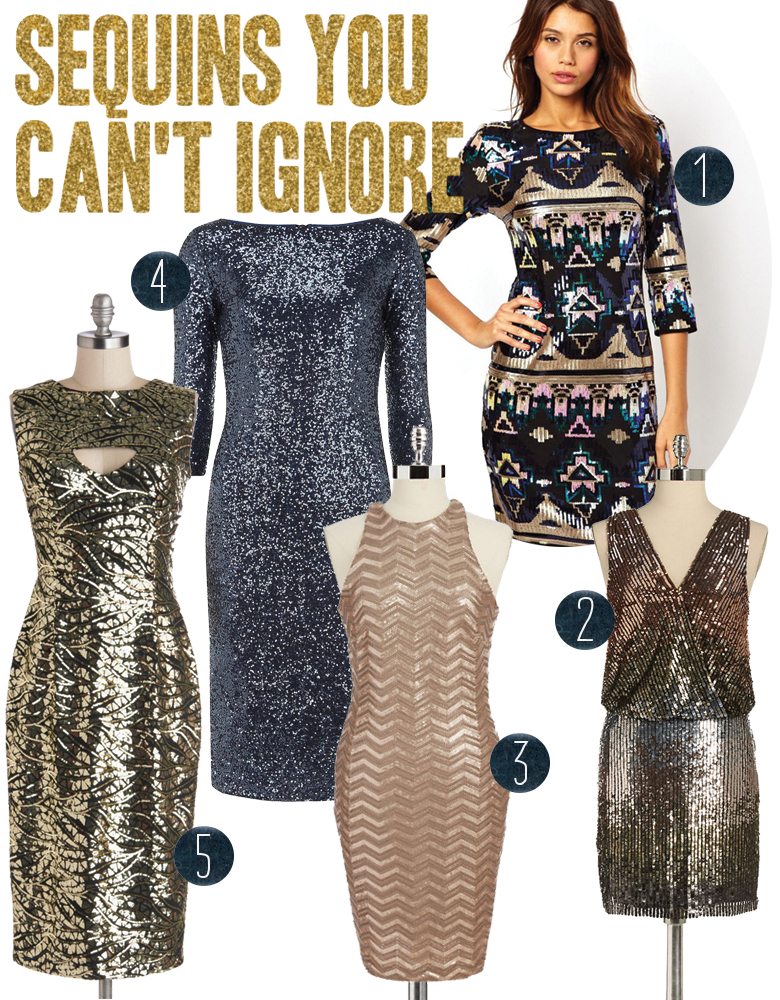 Sequin Holiday Dresses   A Practical Wedding