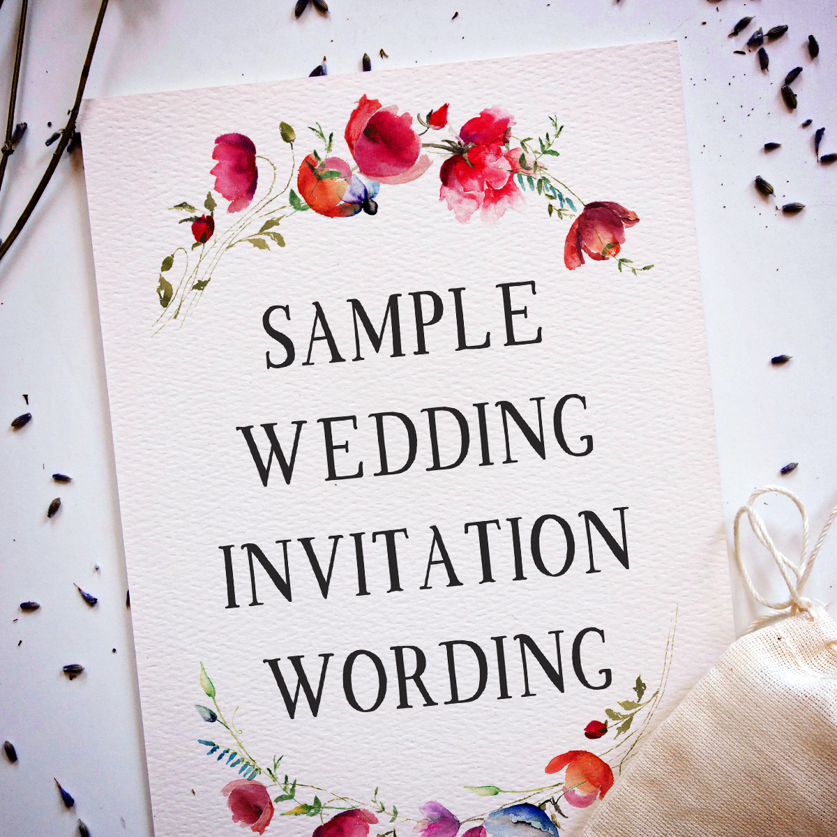 Wedding Invitation That Says Sample Wording