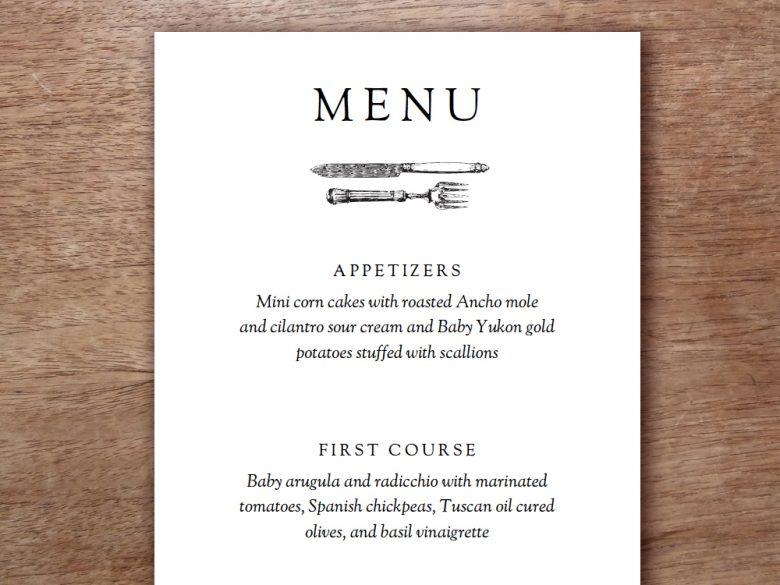 Banquet Menu Templates