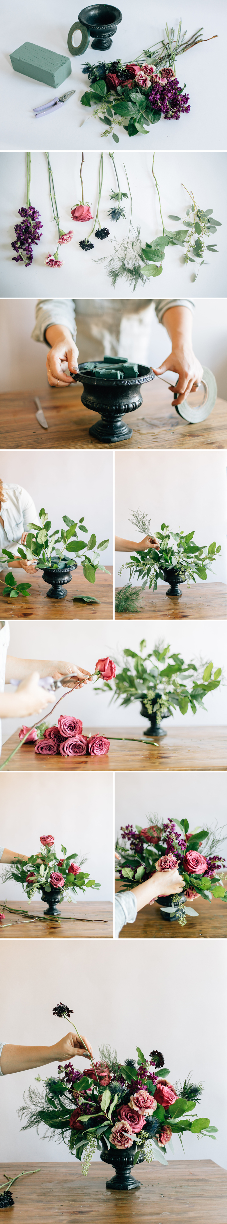 How To Diy A Floral Urn Centerpiece A Practical Wedding