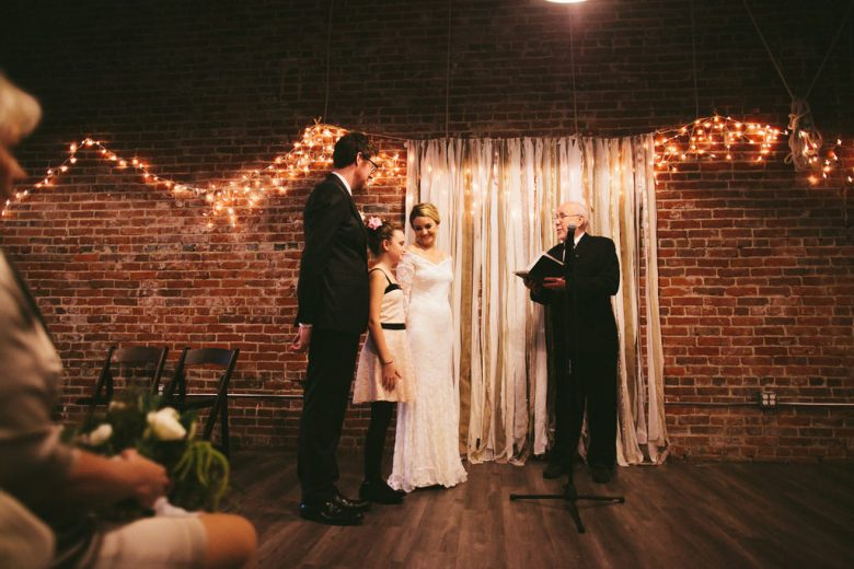 How Everyone Chipped In To Manifest Our Romantic LA Unique Space Wedding