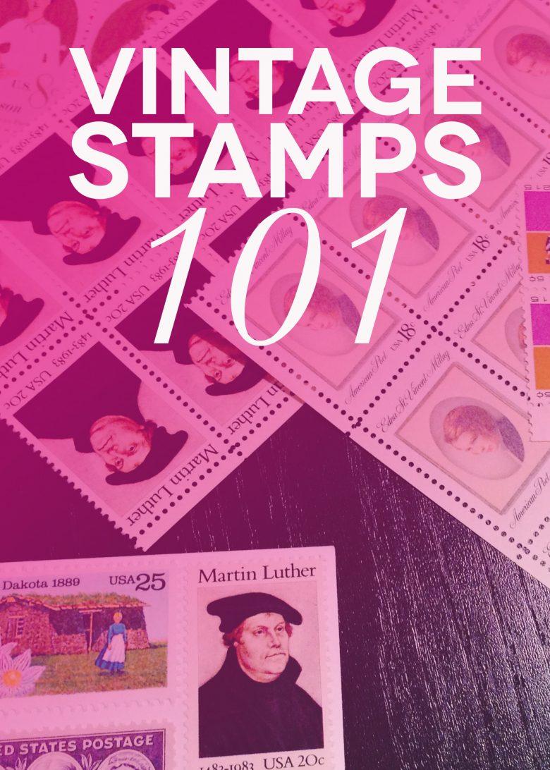 Bargain Hunting: eBay Vintage Stamps for My Wedding Invitations