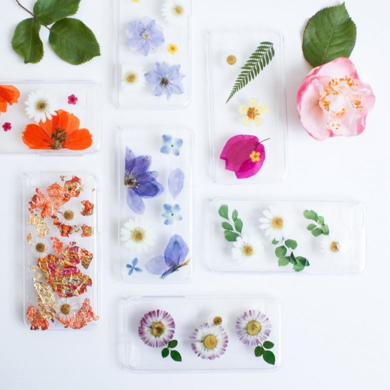 acrylic pressed flower phone cases