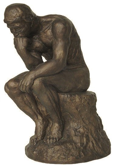 bronze the thinker statue reproduction