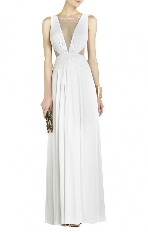 Draped evening ballgown wedding dress | A Practical Wedding