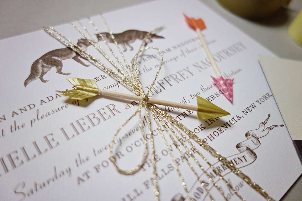 arrow embellishments for wedding invitations