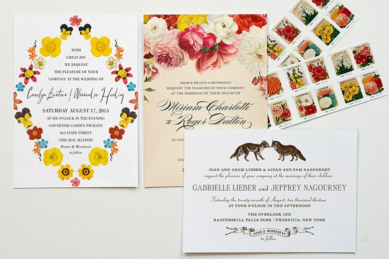 example wedding invitations from printable press