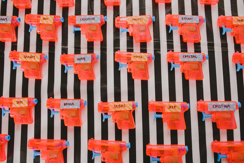water gun wedding favors