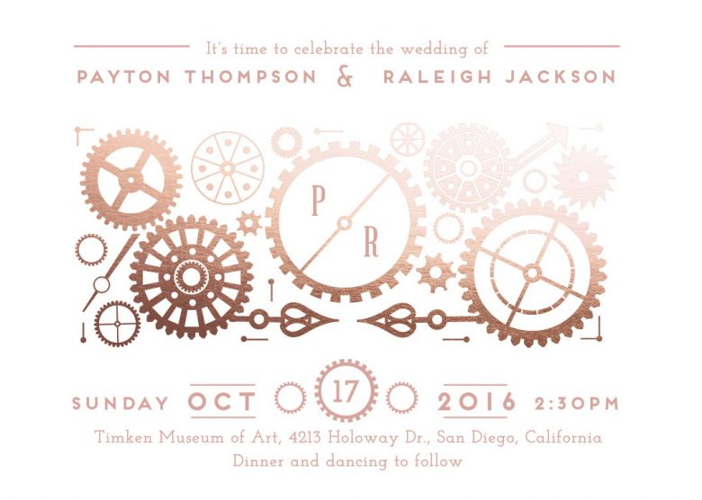 steampunk wedding invitation by minted