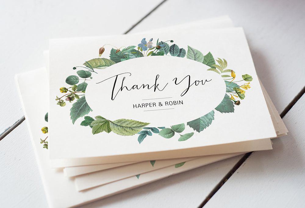 Easy wedding thank you card wording templates a practical wedding junglespirit Image collections