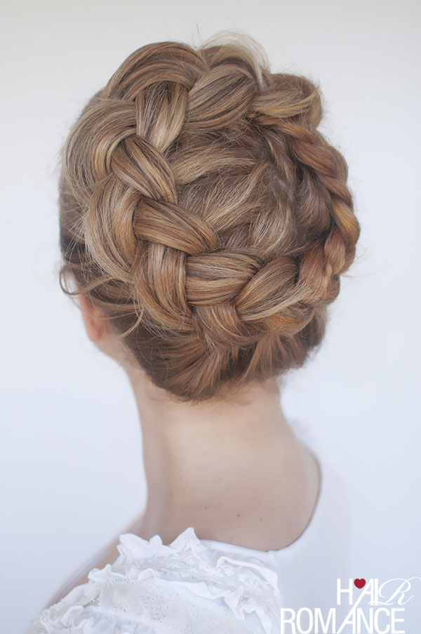 braided crown bridesmaid hairstyle tutorial