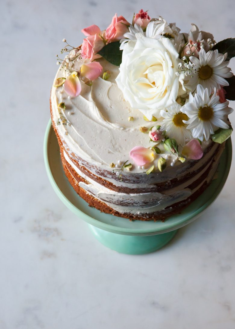 cake with wildflowers
