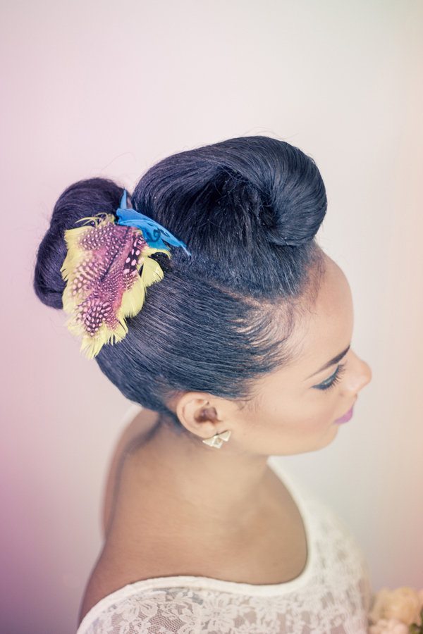 updo for black hair