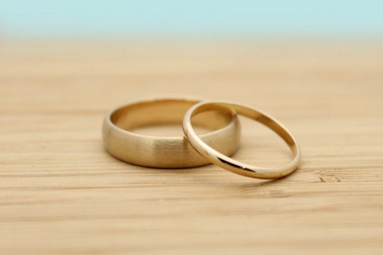 gold wedding rings from with these rings