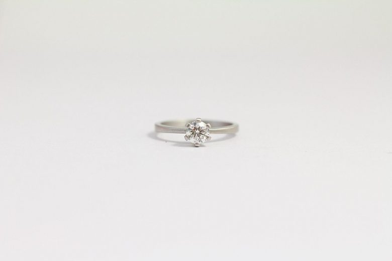 Platinum Engagement Ring from ash hilton with a round solitaire diamond