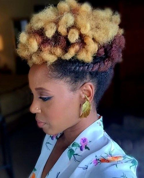 updo hairstyle for short natural hair