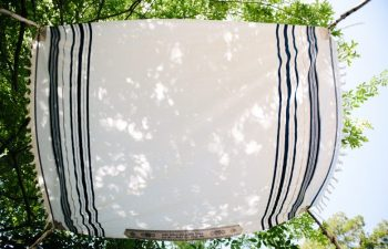 a chuppah at a wedding