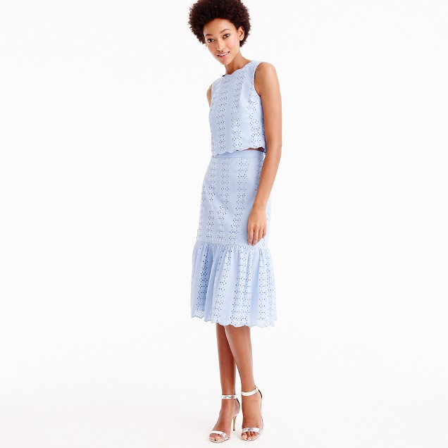 blue two piece nursing friendly dreesses