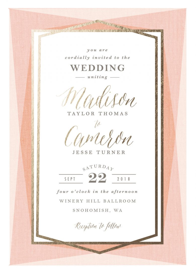 custom foil wedding invitations from minted