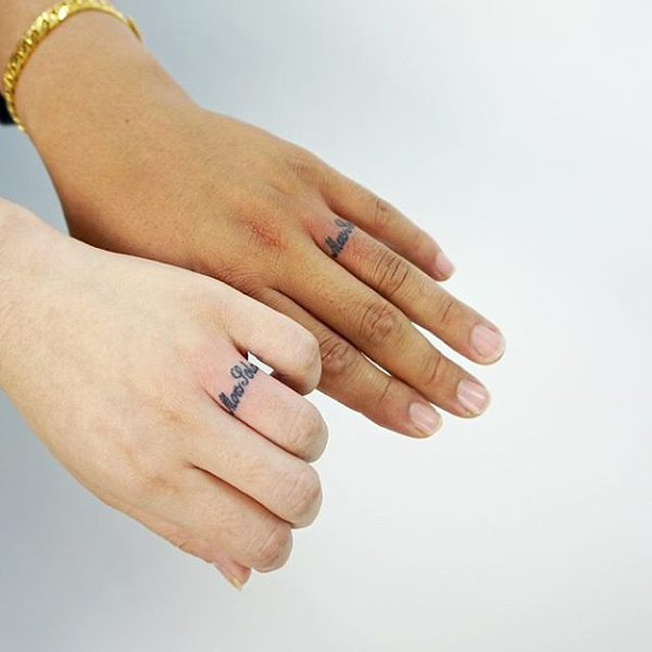3b740012ee1 two left hands with wedding ring tattoo scipts