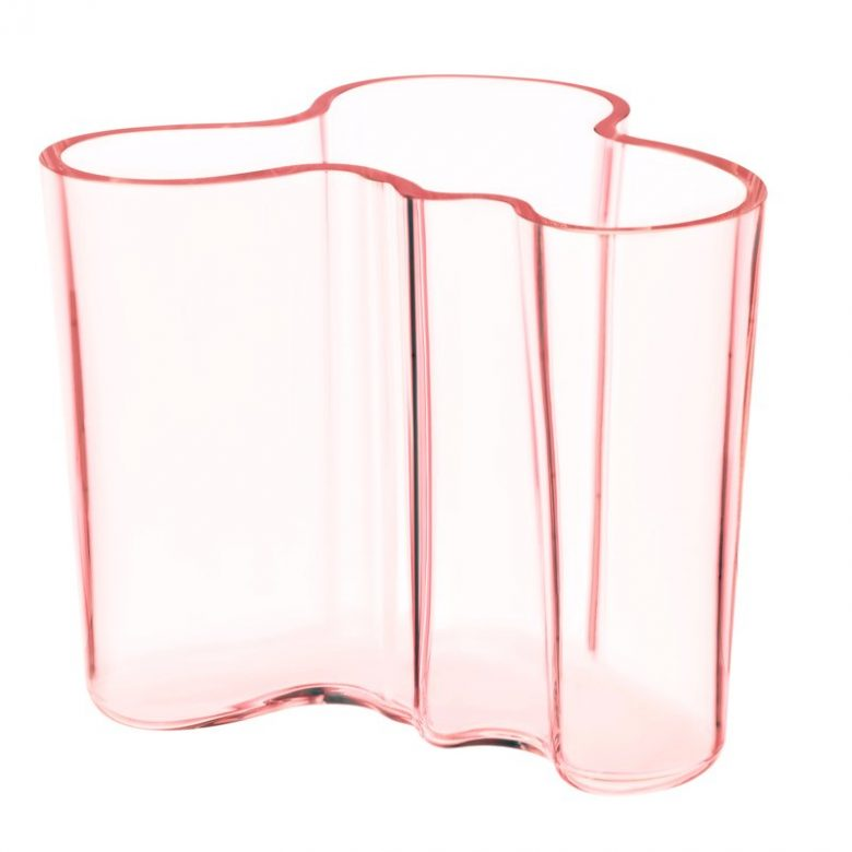 abstract millennial pink translucent glass vase