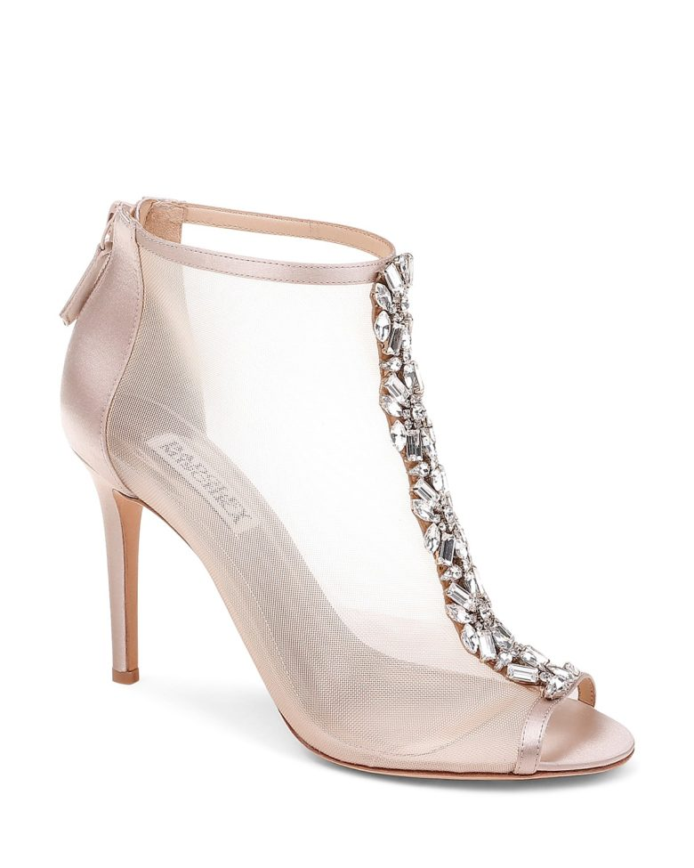 jeweled mesh booties & wedding shoes